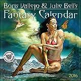 img - for Boris Vallejo & Julie Bell's Fantasy Wall Calendar 2016 book / textbook / text book