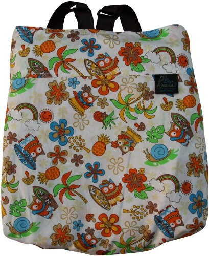 Sky Dreams Travel Blanket Kaianna Hula Owl Orange Backpack Multicolored front-863772