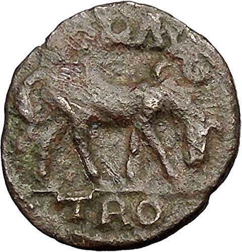 ALEXANDRIA TROAS 200AD Goddess Horse Pseudo-Autnomous Ancient Greek Coin i48724