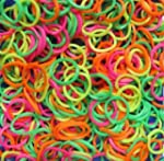 600 Pack Rainbow Neon Color Rubber Ba...