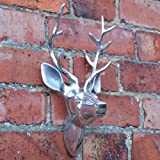 Aluminum Wall Mounted Stag's Head For Inside Or Out