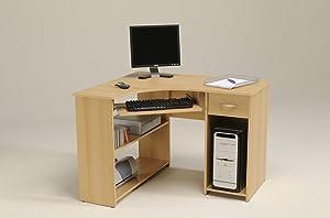 Parisot Max Samerberg Desk Corner Computer Desk with Particle Boards Plus Paper Foil, 108.3 x 76.3 x 93.5 cm, Samerberg Beech       Customer reviews and more information
