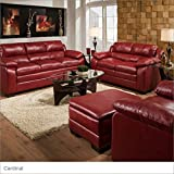 Simmons Upholstery 5066-03 Soho Cardinal Bonded Leather Sofa