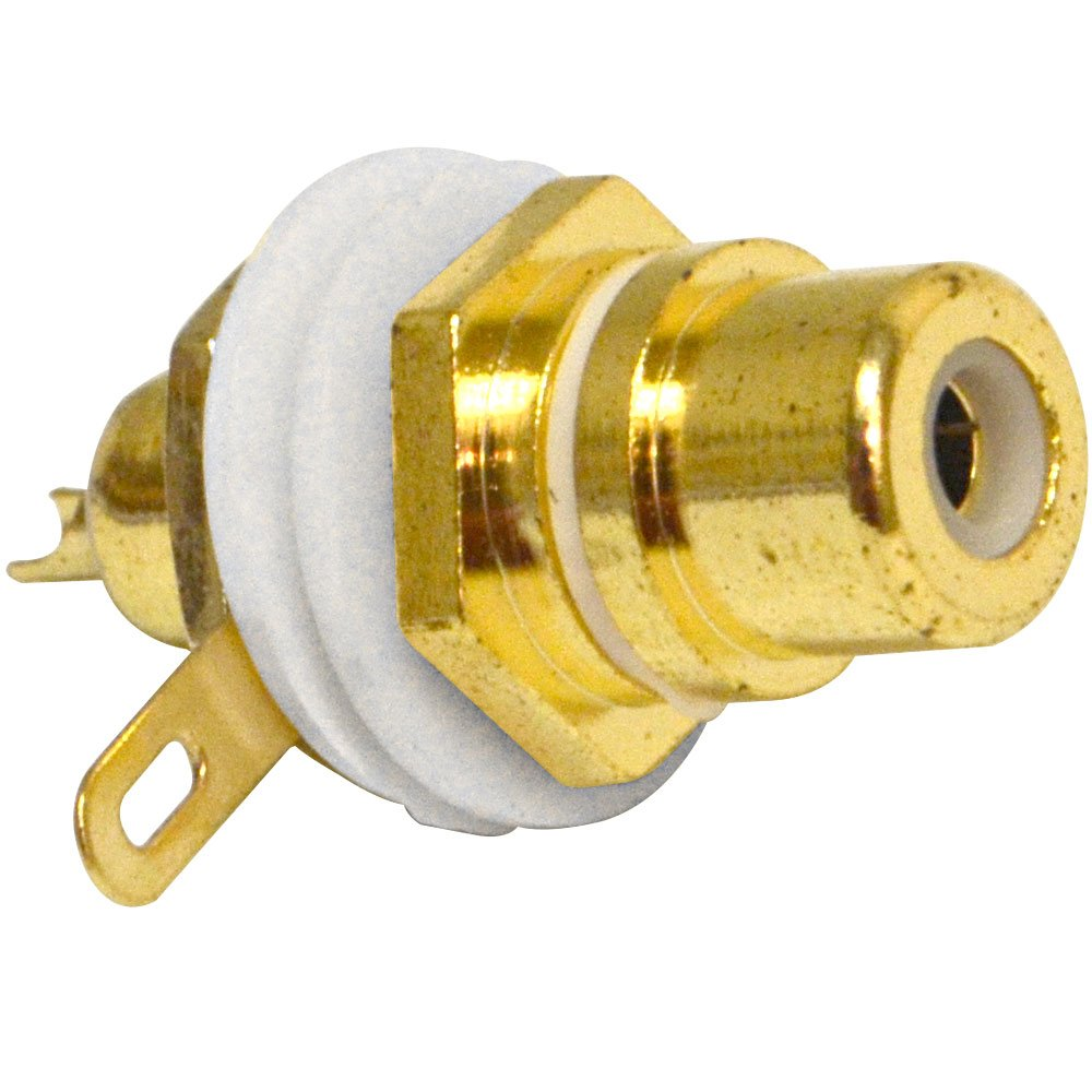 Seismic Audio SAPT230 RCA Gold Plated Chassis Mount Pro Audio Connector - White lumion бра lumion basilia 3201 1w