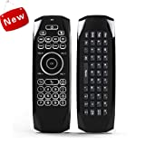 AuviPal G7 Backlit Universal Keyboard Remote Combo (5 Programmable Keys + QWERTY Keyboard + Air Mouse) for Nvidia Shield/Android Box/Smart TV/Raspberry Pi, HTPC and More (Color: Black, Tamaño: Wine Air-modela120)
