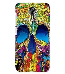 ColourCraft Colourful Skull Design Back Case Cover for MICROMAX CANVAS XPRESS 2 E313