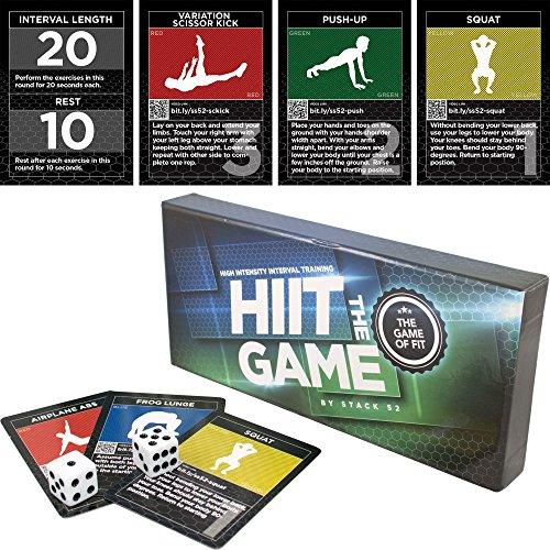 """Stack 52 l """"intervallo Hiit gioco progettato da allenamento Fitness militare esperto. Video dimostrativo Included. esercizi a corpo libero, senza schienale Motivating di divertimento e allenamento sportivo."""