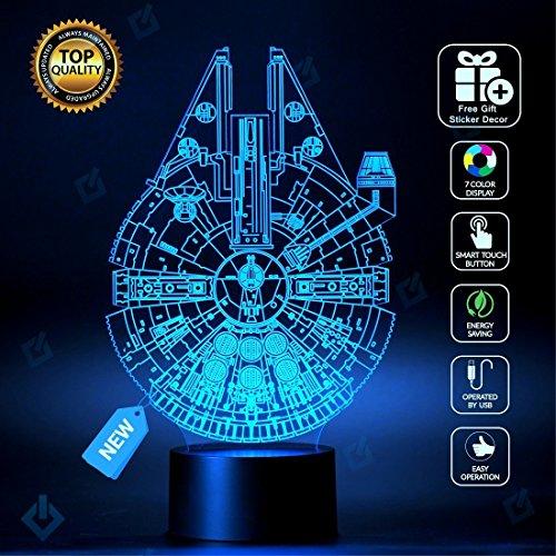 Star Wars Millennium Falcon Lighting Decor toys Lamp Version 2016