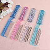 Hair Trimmer Razor Comb Home Cuts Lot Blades Hairdressing Double Blade Shaving Hair Comb