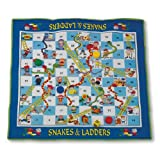 "MAC-T PE08644 Giant Floor Game - Snakes And Ladders, Mat Size: 70"" X 63"" X 3/16"""