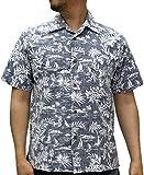 (ルーシャット) ROUSHATTE アロハシャツ 半袖 シャツ ハイビスカス 20柄 S クラシックブルー