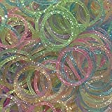 Cheri-Cheri-600 Loom Bandz Elastiques Rainbow Colours - Colourful S-attaches 25 Clips