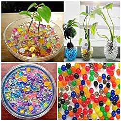 5000 Particles Multicolor Pearl Shaped Water Jelly Balls, vase fillers, Crystal Soil Water Beads Mud Grow Magic Jelly Balls Home Decor