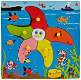 Skillofun Theme Puzzle Standard Star Fish Knobs, Multi Color