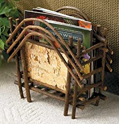 Wild Wings Birch Magazine Rack