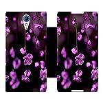 Skintice Designer Flip Cover with Vinyl wrap around for HTC Desire 620G, Design Flower