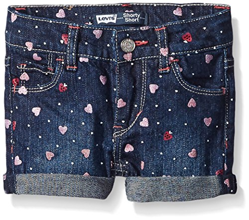 Levi's Big Girls' Levis Summer Love Denim Shorty Short, Repurposed With Glitter, 3T