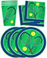 Tennis Birthday Party Supplies Set Plates Napkins Cups Tableware Kit for 16