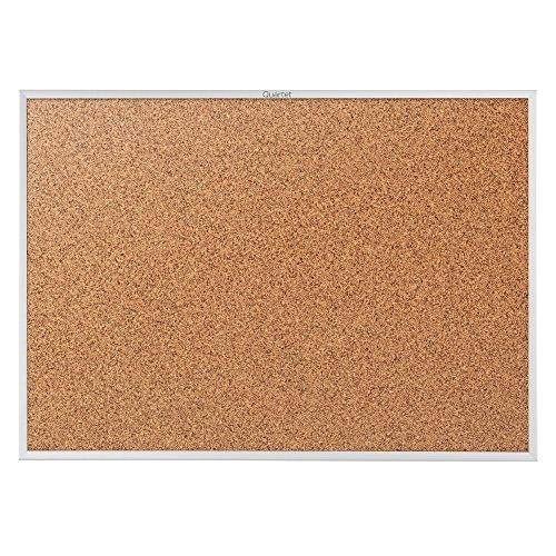 Quartet Cork Bulletin Board, 3 x 2 Feet, Corkboard, Aluminum Frame (2303)