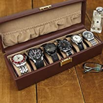 Ragar Gents GQ Sleek Design Watch Box - 13W x 3.5H in.
