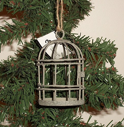 [1 +++ Unique Miniature TIN BIRD CAGE ORNAMENT by C.T.W. Home Collection] (Australian Colonial Costumes For Children)