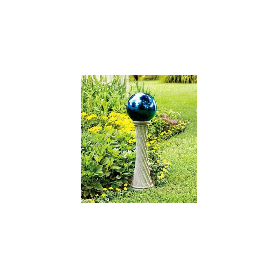 23H Polyresin Twisted Stand for Stainless Steel Gazing Ball