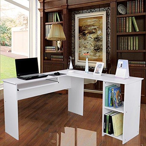 songmics escritorio de la computadora blanco mesa de ForEscritorios De Hogar