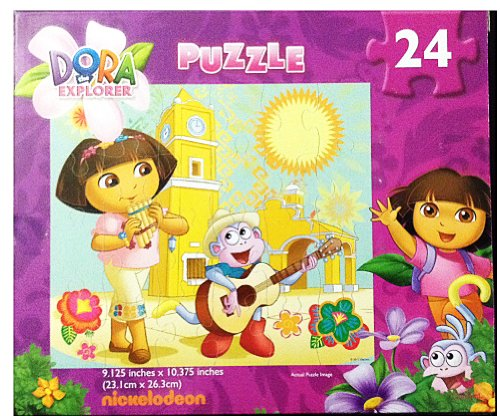 Dora the Explorer 24-piece Jigsaw Puzzle (Music) - 1
