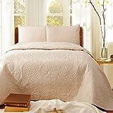 アンティーク風北欧ベッドカバー/コットン100%ベッドスプレッド/キルト+枕カバー