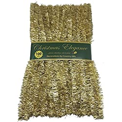 100 FT Commercial Length Christmas Garland Classic Christmas Decorations, Gold