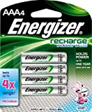 Energizer NH12BP-4 Rechargeable Nickel Metal Hydride AAA Battery, 4 Count