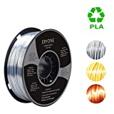PLA Filament 1.75mm Silk Silver, ERYONE Silky Shiny Filament PLA 1.75mm, 3D Printing Filament PLA for 3D Printer and 3D Pen, 1kg 1 Spool (Color: B-Silver)