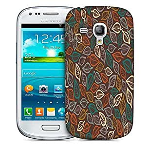 Snoogg Multicolor Leaves Printed Protective Phone Back Case Cover For Samsung S3 Mini / S III Mini