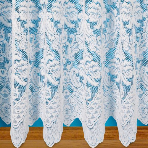 Blenheim White Net Curtain. Sold by the metre. (36