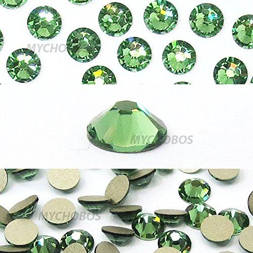 ERINITE (360) green Swarovski NEW 2088 XIRIUS Rose 34ss 7mm flatback No-Hotfix rhinestones ss34 18 pcs (1/8 gross) *FREE Shipping from Mychobos (Crystal-Wholesale)*