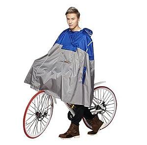 SudaTek New Lightweight Cycling Rain Poncho Bike Hooded Raincoat with Reflector Strips