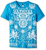 Southpole Big Boys' Graphic Tee with Centered Geo Graphics