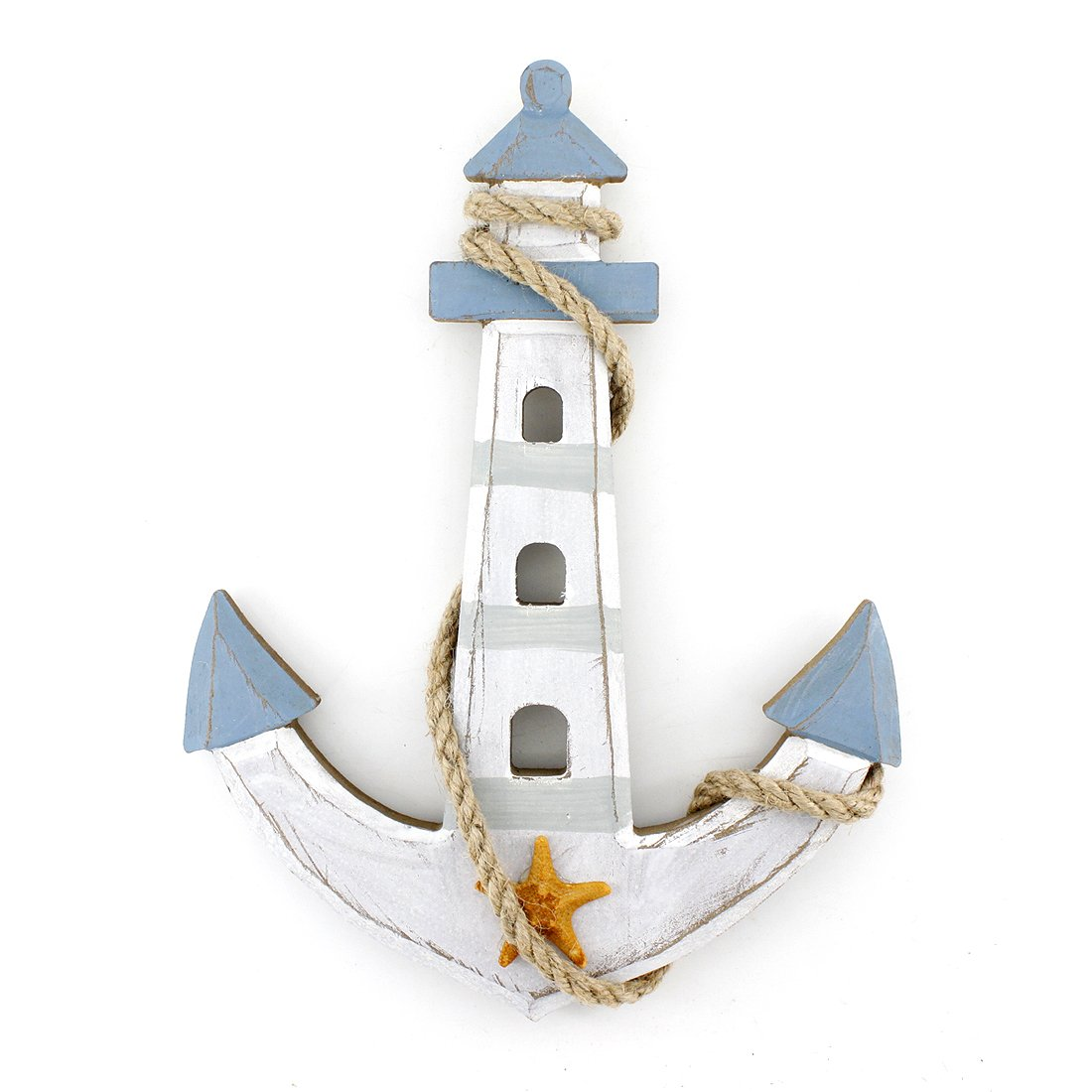 10 Quot X7 6 Quot Wooden Nautical Lighthouse Anchor Wall Hanging