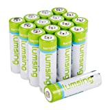 Lumsing 16 Pack AA Batteries 2850mAh High Capacity AA Ni-MH Rechargeable Batteries, Battery Case Included (16 Pack AA) (Tamaño: 16 Pack AA)