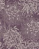 Graham and Brown 17833 Chrysanthemum Wallpaper, Purple