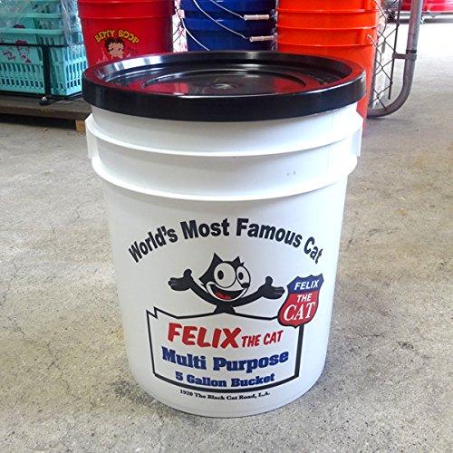 5ガロン 蓋付きバケツ 「Felix The Cat  フィリックス・ザ・キャット」 (容量18.9L) [並行輸入品]