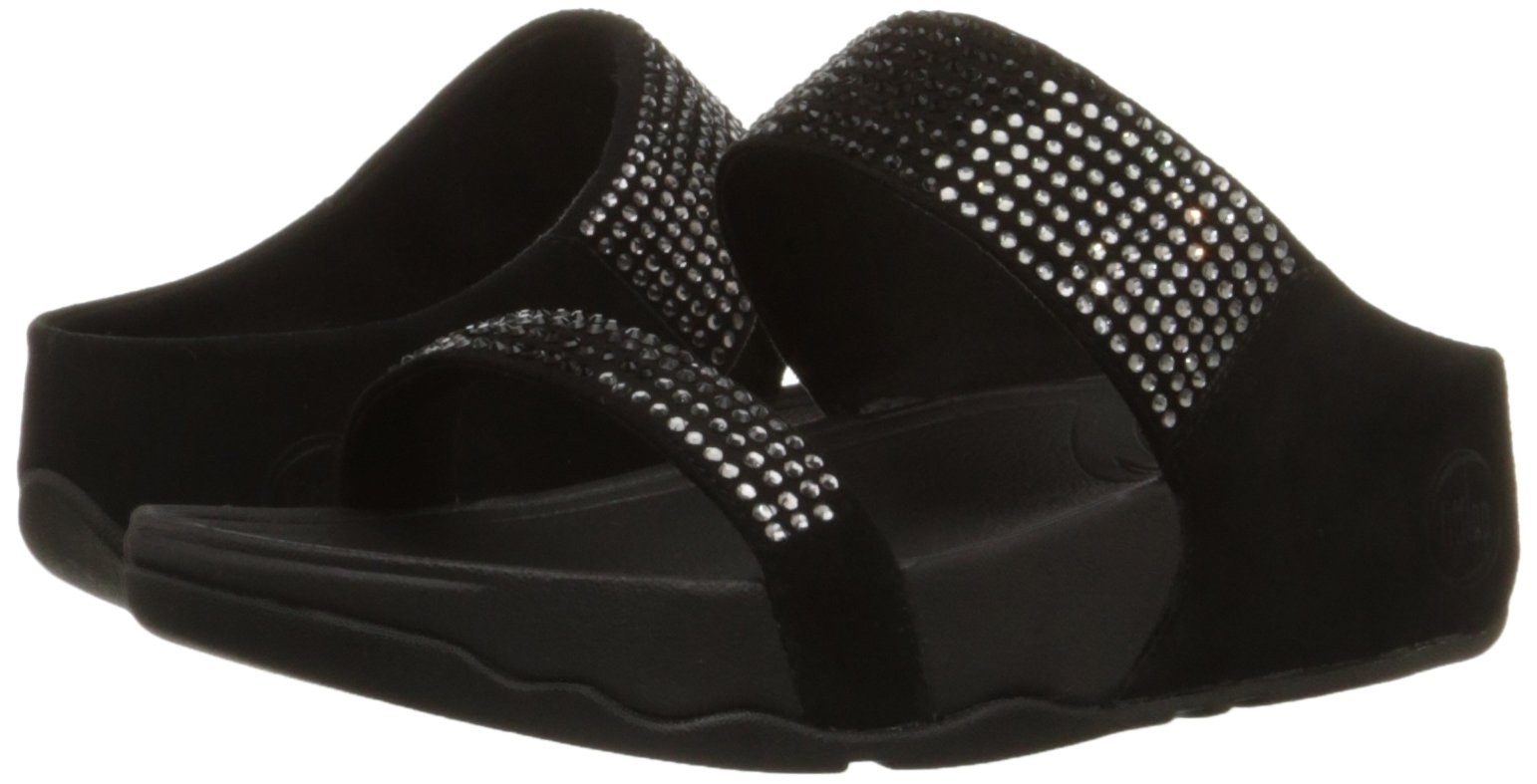 Fitflop Womens Flare Slide Sandal Black