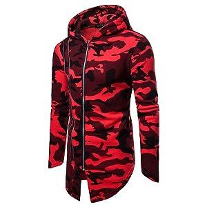 SERYU Fleece Zipper Sweater Jacket Mens Camouflage Hoodie Winter Warm Outwear Coat