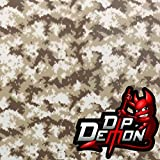 Desert Storm Tiger Stripe Digital Camo Camouflage Hunting Hydrographic Water Transfer Film Hydro Dipping Dip Demon (Tamaño: 2M X 50cm - 20