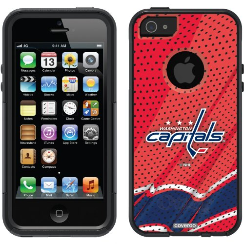 Washington Capitals® - Home Jersey design on a Black OtterBox® Commuter Series® Case for iPhone 5s / 5 at Amazon.com