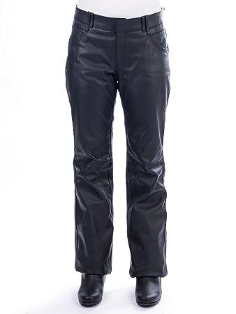 Ixon - Rubis Pantalon Cuir Femme Noir - Taille : L