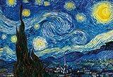 1000ピース ジグソーパズル 星月夜 マイクロピース (26x38cm)
