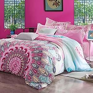 Amazon.com - MeMoreCool Home Textile Boho Bedding Set ...