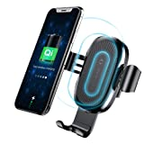 Wireless Car Charger Mount, Baseus Gravity Car Mount Air Vent Phone Holder, 10W Charge for Samsung Galaxy S8 S7/S7 Edge, Note 8 5, Standard Charge for iPhone X, 8/8 Plus and Qi Enabled Devices (Color: Black)