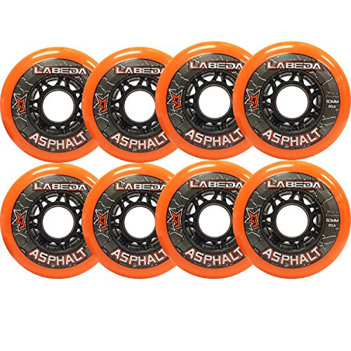 LABEDA WHEELS Roller Hockey GRIPPER ASPHALT HILO 4-76mm Wheels/4-80mm Wheels (Outdoor Roller Hockey Wheels compare prices)